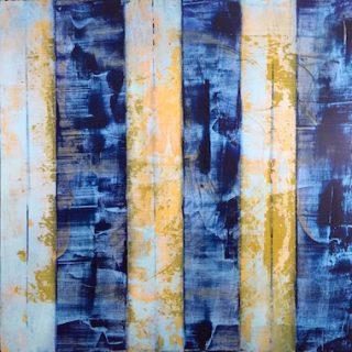 IMG-Light into Dark, abstract oil and cold wax, Georgia Gibbs