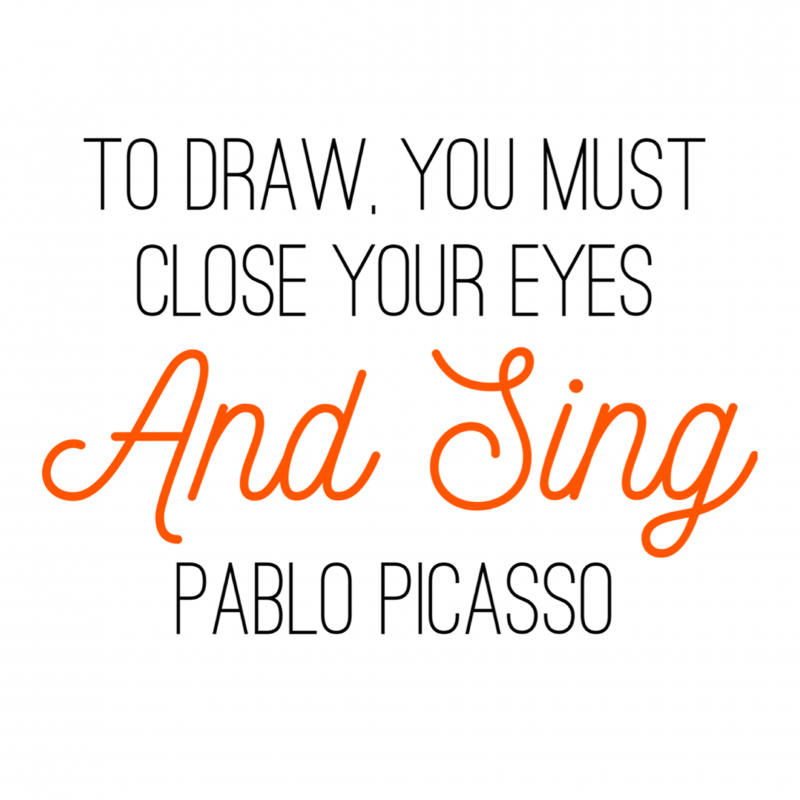 Paint Drops Artist Quote Pablo Picasso