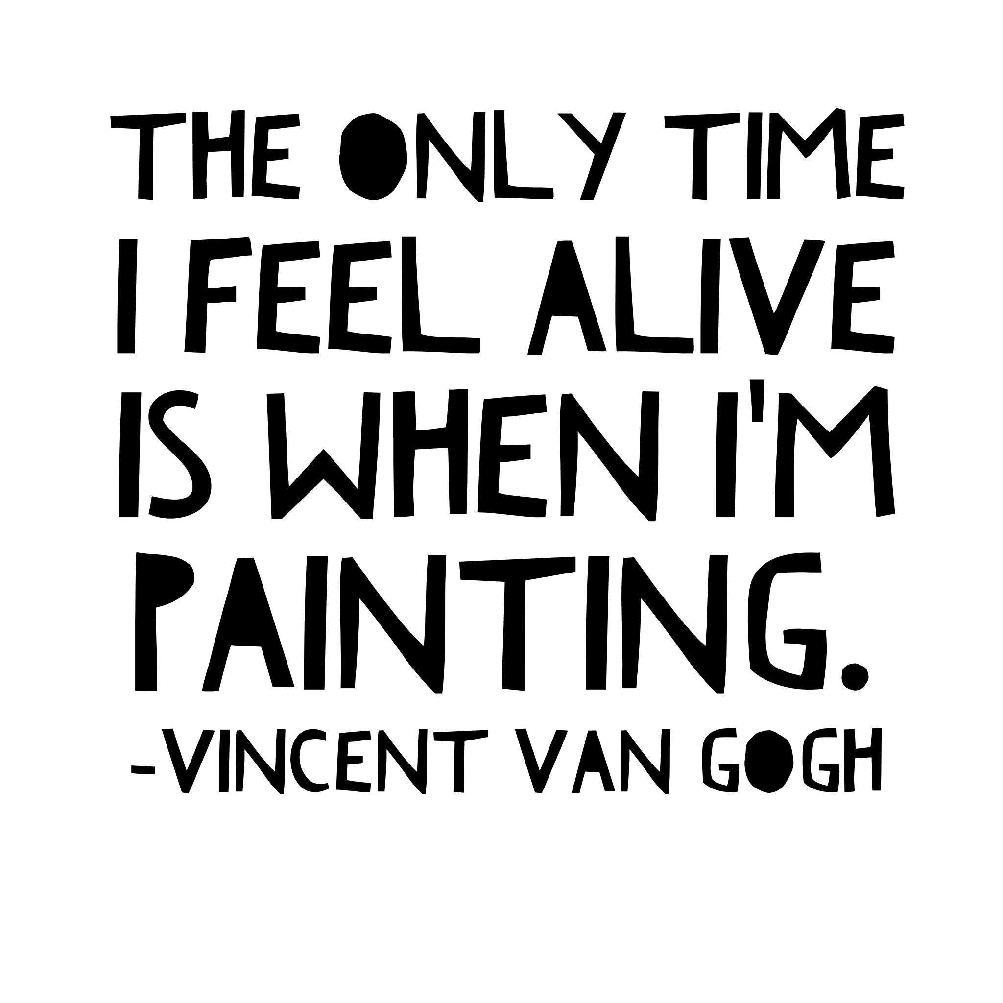 Paint Drops Artist Quotes Vincent Van Gogh Georgia Gibbs